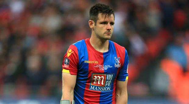 Crystal Palace's Scott Dann came off with an ankle injury during the FA Cup final.