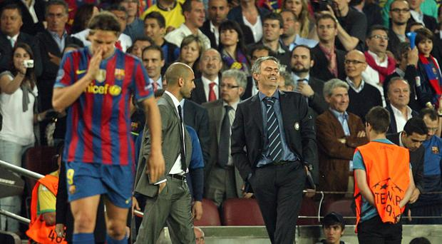 Coaches Jose Mourinho, right, and Pep Guardiola are set to renew rivalries in the Barclays Premier League next season