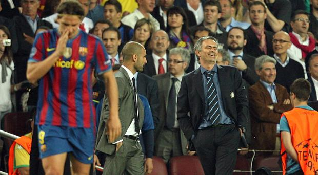 Pep Guardiola (left) and Jose Mourinho (right) are set to clash in Manchester