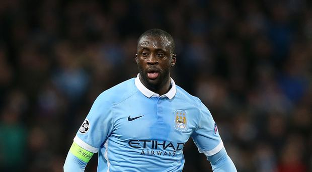 Yaya Toure has been left out of Man City's Champions League squad