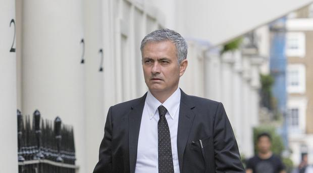 Jose Mourinho's seemingly inevitable appointment as Manchester United boss has been delayed by Chelsea owning the trademark to his name