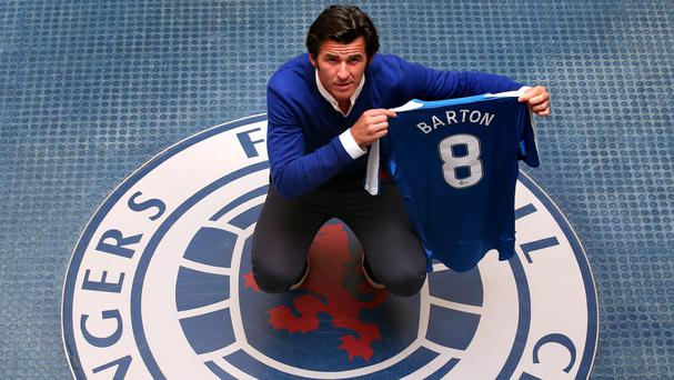 Joey Barton chose to leave Premier League-bound Burnley for Rangers