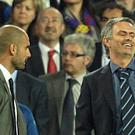 Jose Mourinho, pictured right, and Pep Guardiola, left, will face off in the Premier League next season