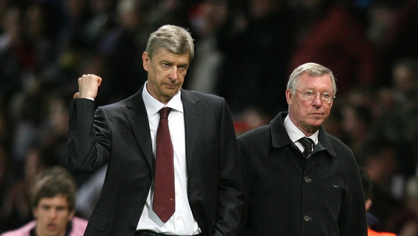 Arsene Wenger and Alex Ferguson