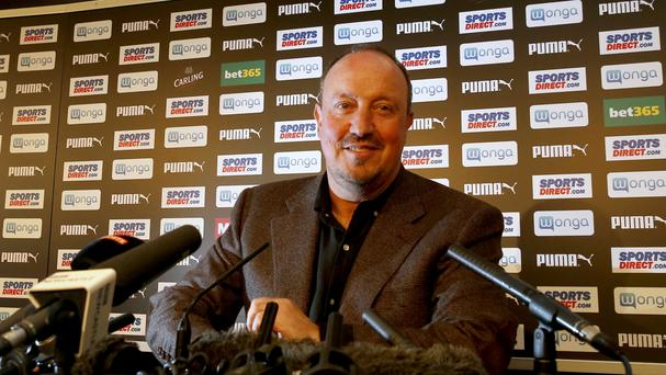 Newcastle manager Rafael Benitez, pictured, has added Mikel Antia to his coaching team