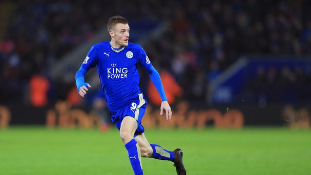 Leicester City's Jamie Vardy is a reported target for Arsenal