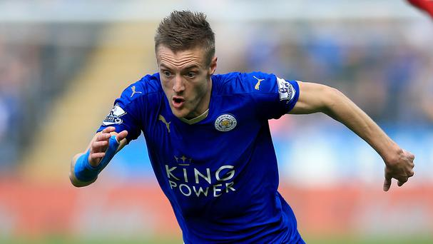 Leicester striker Jamie Vardy is reportedly a target for Arsenal