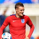 Leicester forward Jamie Vardy is away with England at Euro 2016 as speculation continues over his club future
