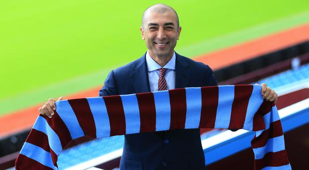 Aston Villa manager Roberto Di Matteo has become the club's fourth permanent boss since February 2015