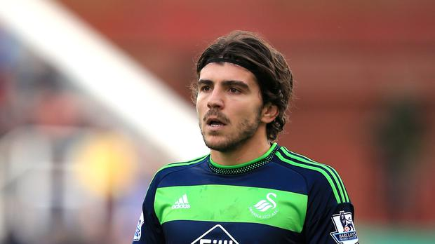 Alberto Paloschi only joined Swansea in January.