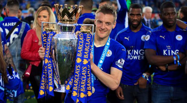 Jamie Vardy was key to Leicester's shock Premier League title win