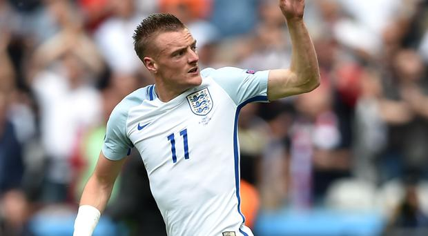 Jamie Vardy scored England's equaliser against Wales
