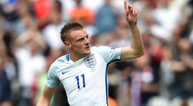 Leicester's Jamie Vardy scored in England's 2-1 win over Wales at Euro 2016 last week