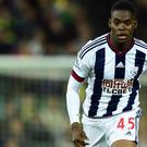 Jonathan Leko made his West Brom debut against Norwich in the League Cup last season