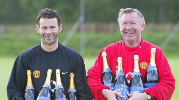 Sir Alex Ferguson, right, has backed Ryan Giggs to make his mark as a manager away from Manchester United