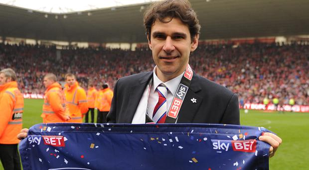 Aitor Karanka, pictured, has added Marten de Roon to his squad for next season