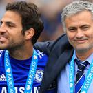 Cesc Fabregas, left, could be reunited with Jose Mourinho, right