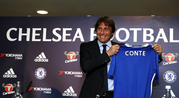 Antonio Conte has held his first press conference as Chelsea manager