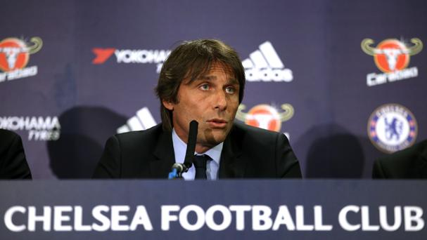 New Chelsea manager Antonio Conte faced the press for the first time