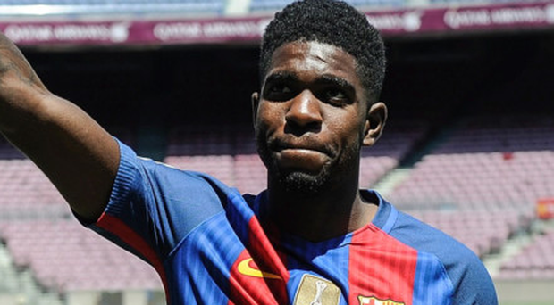 Umtiti at the Nou Camp. Photo: AFP/Getty Images