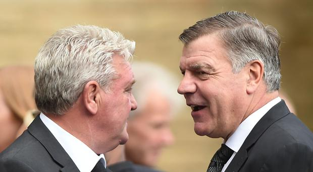 Steve Bruce, pictured left, has joined Sam Allardyce in the running for the England manager's job