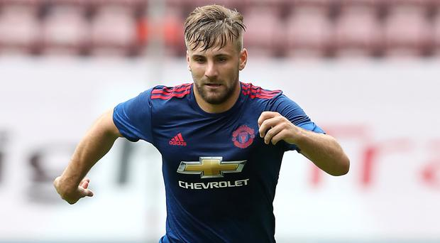 Luke Shaw made his first appearance in 10 months in Saturday's friendly against Wigan