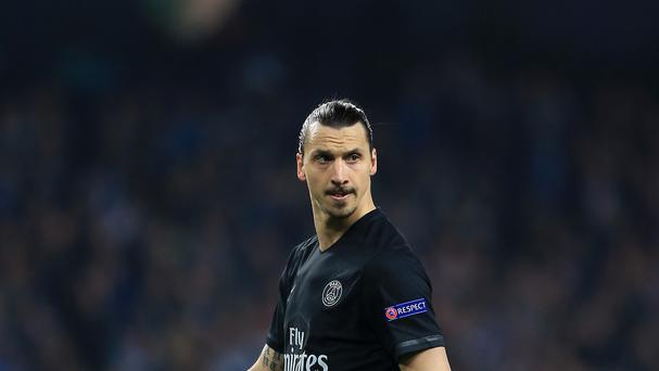 Zlatan Ibrahimovic while at PSG