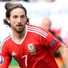 Jason Levien has confirmed Swansea's interest in signing Wales midfielder Joe Allen, pictured