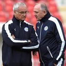 Claudio Ranieri is looking to move on from the departure of Steve Walsh, right
