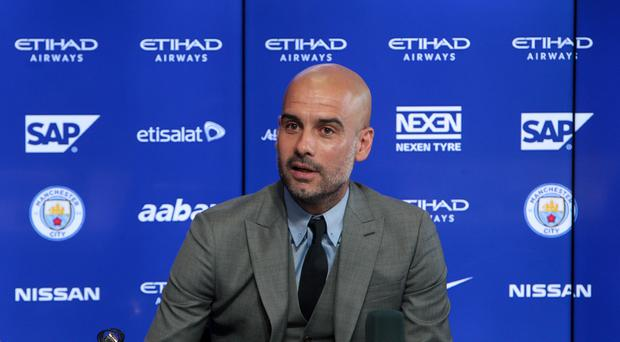 Manchester City manager Pep Guardiola joined the club this summer after leaving Bayern Munich.