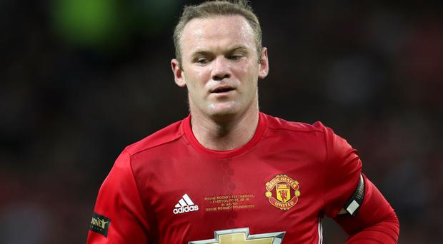 Manchester United's Wayne Rooney during his testimonial