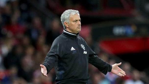 Manchester United manager Jose Mourinho gestures on the touchline during Wayne Rooney's Testimonial at Old Trafford, Manchester.