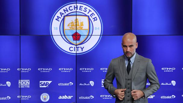 Manchester City boss Pep Guardiola, pictured, has made Marlos Moreno his seventh signing of the summer