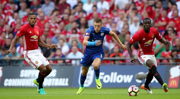 James Vardy, left, and Eric Bailly made an impression at Wembley