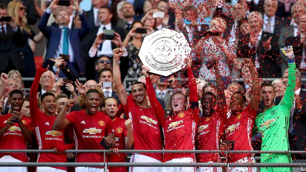 Manchester United' gave Jose Mourinho an early piece of silverware at Wembley