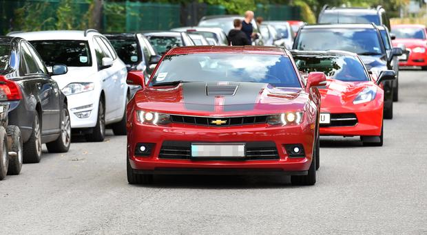 Paul Pogba arrives at Manchester United's training ground