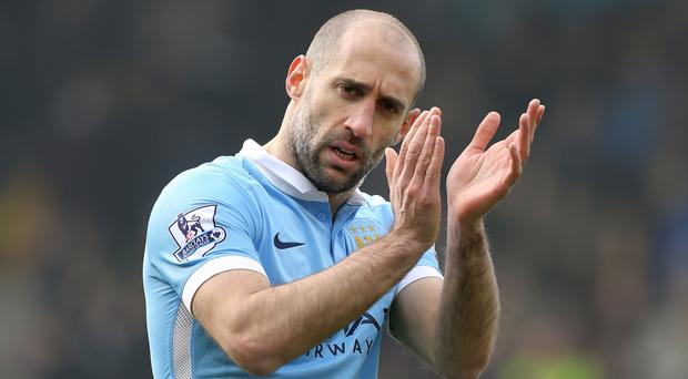 Pablo Zabaleta has one year left on his Manchester City contract.