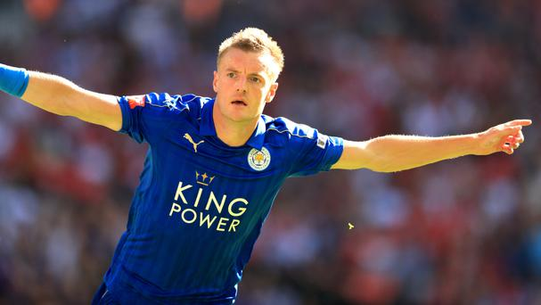 Jamie Vardy scored Leicester's equaliser in the Community Shield