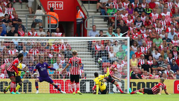 Watford's Etienne Capoue scores his side's goal