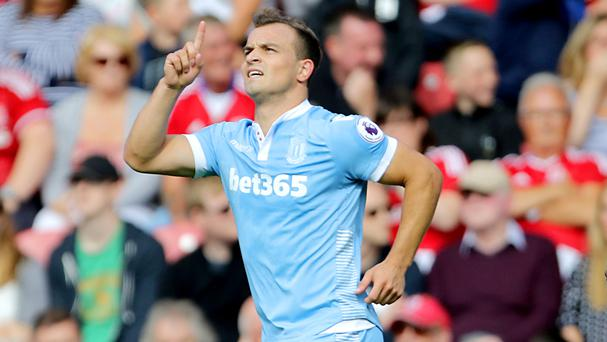 Stoke boss Mark Hughes has challenged Xherdan Shaqiri, pictured, to establish himself as a regular match-winner
