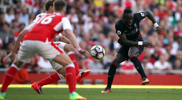 Sadio Mane made his Liverpool debut at Arsenal on Sunday