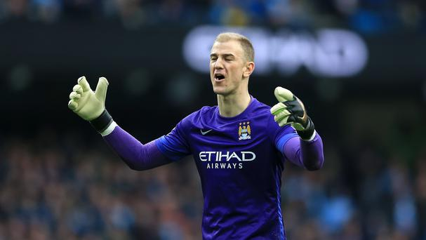 Joe Hart is not happy about being dropped by Manchester City