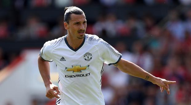 Zlatan Ibrahimovic was on the scoresheet on his Premier League debut for Manchester United