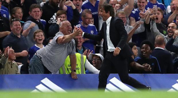 New Chelsea manager Antonio Conte enjoyed a winning start