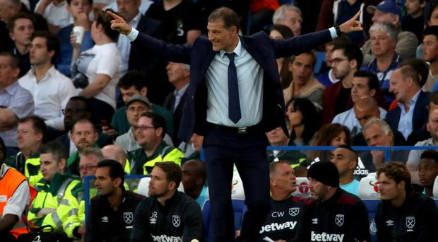Slaven Bilic was frustrated after West Ham conceded a late goal to lose at Chelsea