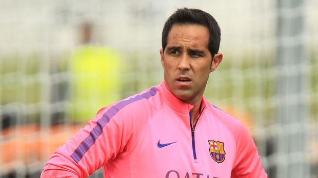 Barcelona goalkeeper Claudio Bravo has been heavily linked with a move to Manchester City