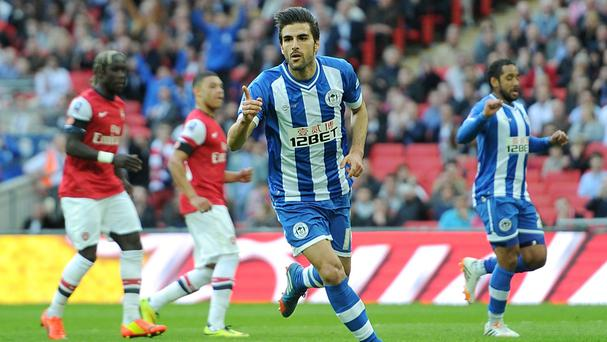 Jordi Gomez is back in a Wigan shirt
