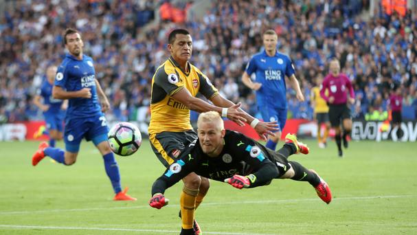 Leicester goalkeeper Kasper Schmeichel helped the Foxes to a 0-0 draw with Arsenal