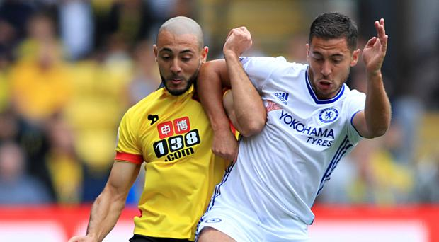 Eden Hazard, right, has had a lively start to the season having struggled for the majority of last year