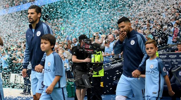 Nolito, left, is enjoying playing with Sergio Aguero, right